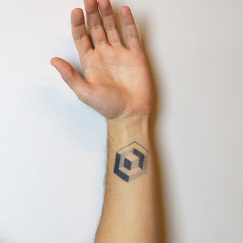 Metatron by Felipe Sena is a Geometric temporary tattoo from inkbox - 0