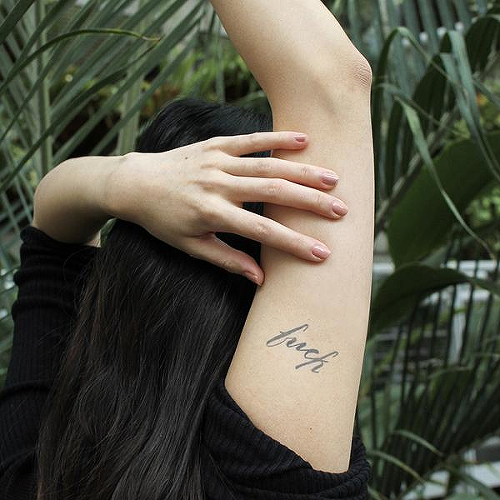 Mierda by Jaimie Hallarn is a  temporary tattoo from inkbox - 0
