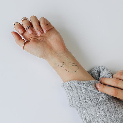 Modulo by Mikie Jae is a Minimal temporary tattoo from inkbox - 0