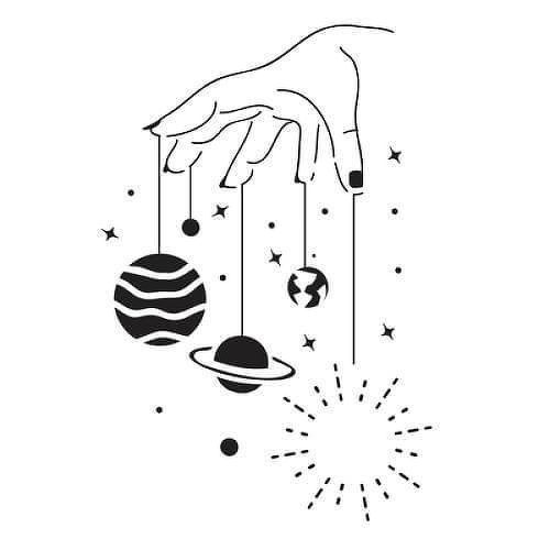 Mutnik by inkbox tattoos is a Space temporary tattoo from inkbox - 1