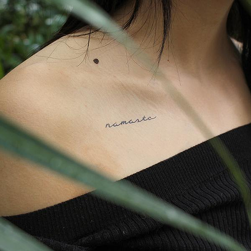 Namaskar by inkbox is a Words temporary tattoo from inkbox - 0
