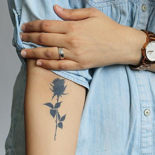 Noir by Lenera Solntseva is a Flowers temporary tattoo from inkbox - 0