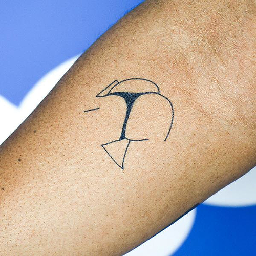 Oasis by Chinatown Stropky is a Minimal temporary tattoo from inkbox - 2