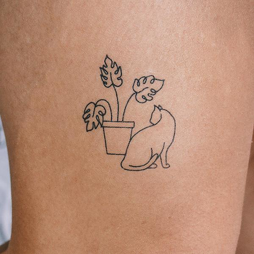 Oh Pretty Kitty by Curt Montgomery is a Animals temporary tattoo from inkbox - 2