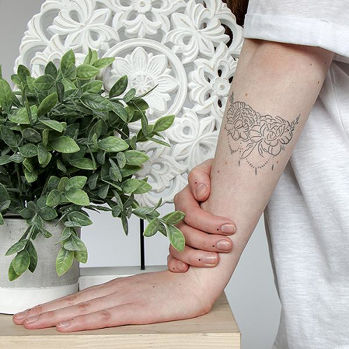 fc7820271e8a2 Oriana by Olivia-Fayne is a Flowers temporary tattoo from inkbox