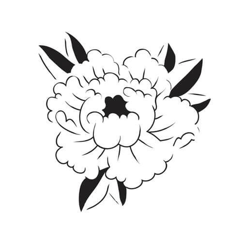 Paeonia by Felipe Sena is a Flowers temporary tattoo from inkbox - 3