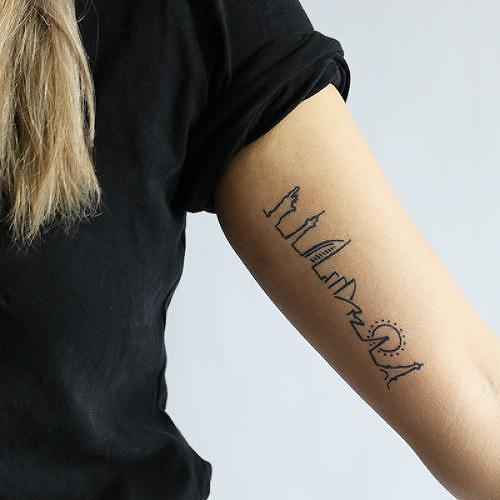 Peripatetic by Geige Silver is a Travel temporary tattoo from inkbox - 0