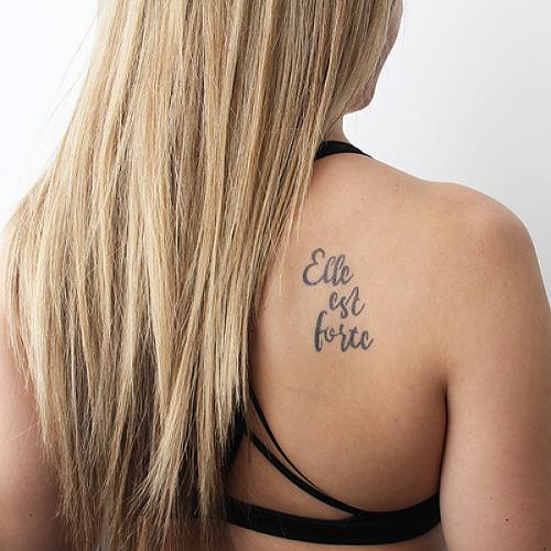 4428bc20f Puissant by inkbox is a Quotes temporary tattoo from inkbox
