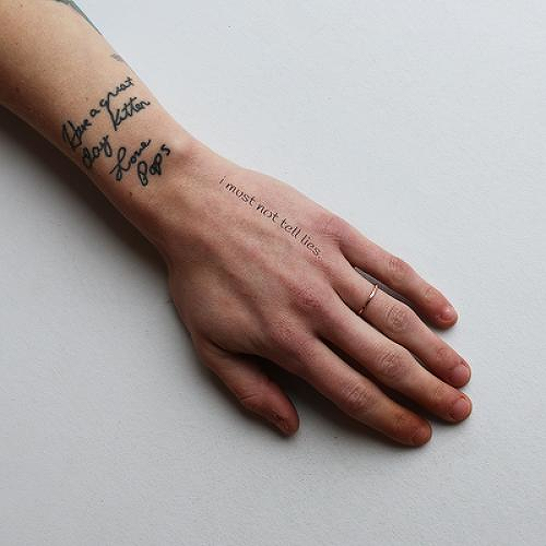 Quill by J Mendez is a Quotes temporary tattoo from inkbox - 0