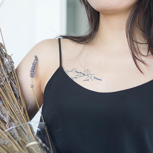 Sakura by Felipe Sena is a Flowers temporary tattoo from inkbox - 1