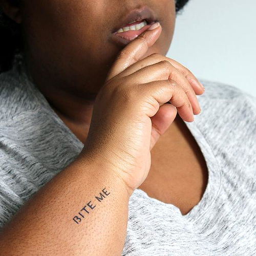 Saucy by Miguel Romero is a Quotes temporary tattoo from inkbox - 2