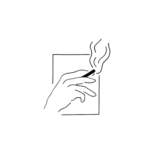 Smokey by Karmen Man is a Minimal temporary tattoo from inkbox - 1