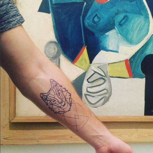 Solitarius Lupus by Kristine Vodon is a Animals temporary tattoo from inkbox - 2