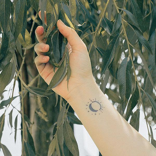 Solluna by Felipe Sena is a Space temporary tattoo from inkbox - 2