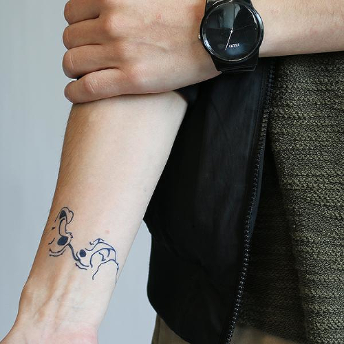Spaniel by Rachel Llanera is a Animals temporary tattoo from inkbox - 0