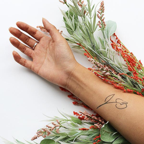 Talouse by Mikie Jae is a Flowers temporary tattoo from inkbox - 0
