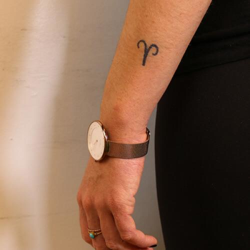 The Ram by inkbox is a Astrology temporary tattoo from inkbox - 0
