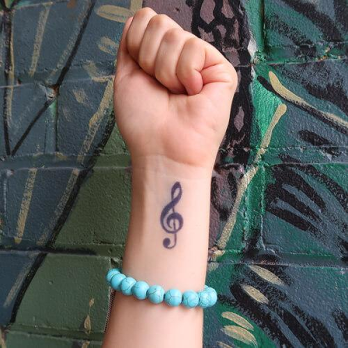 Treble by Louise Z. L. is a Music temporary tattoo from inkbox - 0
