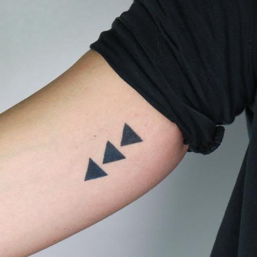 Ugga by Jaimie Hallarn is a Geometric temporary tattoo from inkbox - 0