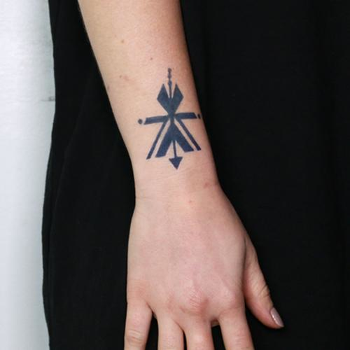 Uvito by Jenna Fullerton is a Geometric temporary tattoo from inkbox - 1