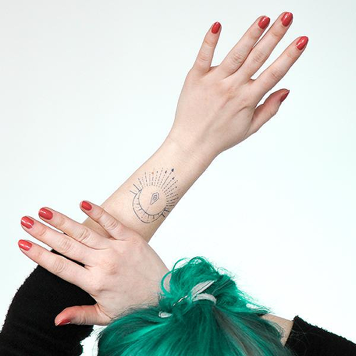 Vosa by Talia Missaghi is a Geometric temporary tattoo from inkbox - 0