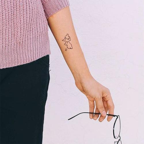 Semi permanent travel tattoos inkbox wabi sabi by inkbox is a minimal temporary tattoo from inkbox gumiabroncs Gallery