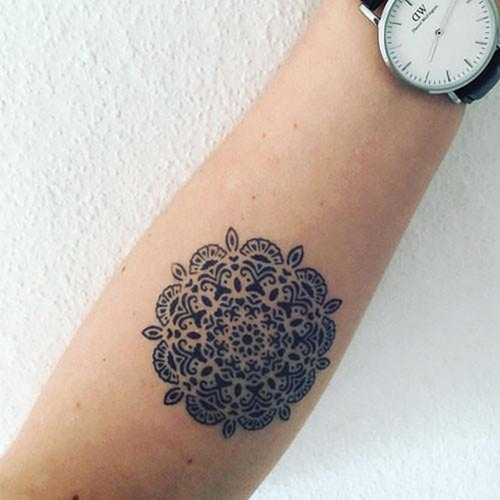Yantra by Sarah Skrlj is a Geometric temporary tattoo from inkbox - 3