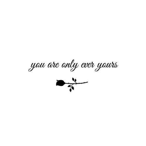 Yours by Jamie Penno is a Quotes temporary tattoo from inkbox - 1