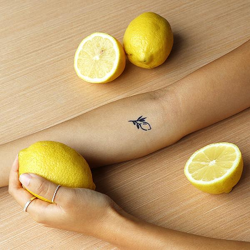 Zest by Fatima Almuhtaram is a Food & Drink temporary tattoo from inkbox - 1