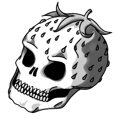 Skullberry by Heba Sidahmed is a Random temporary tattoo from inkbox - stencil