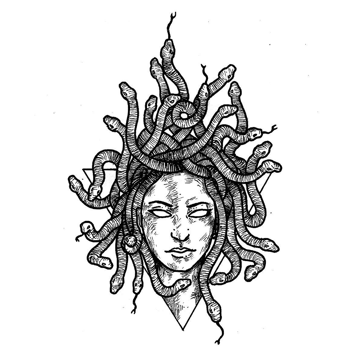 Medusa Tattoo Semi Permanent Tattoos By Inkbox Trade