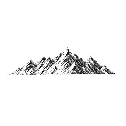 Mountain Range by Carsten Daub is a  temporary tattoo from inkbox - stencil