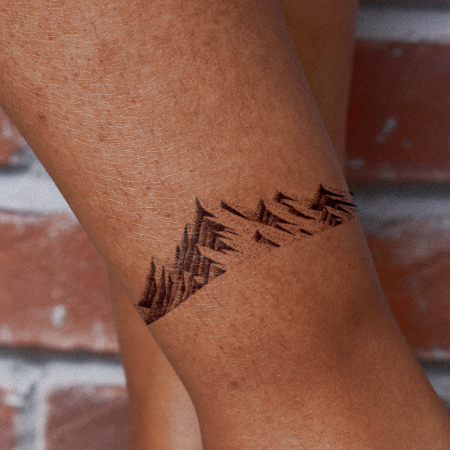 Mountain Range by Carsten Daub is a Nature temporary tattoo from inkbox - compliment