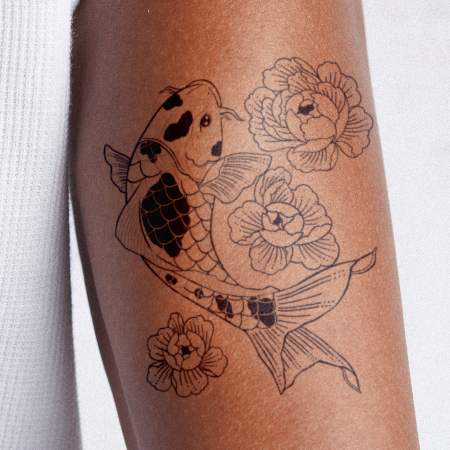 Floral Koi by Cecilia Gomez  is a Animals temporary tattoo from inkbox - main