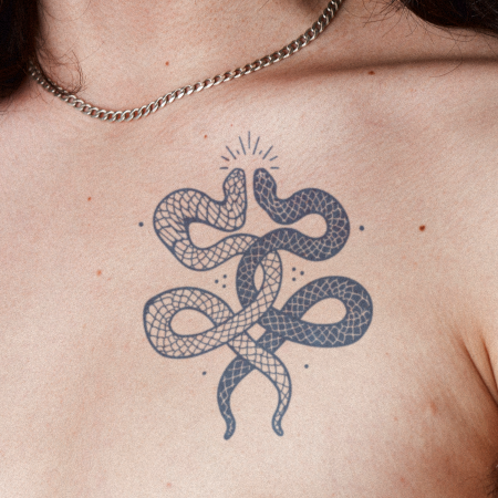 Slithers by Kristine Vodon is a Animals temporary tattoo from inkbox - main