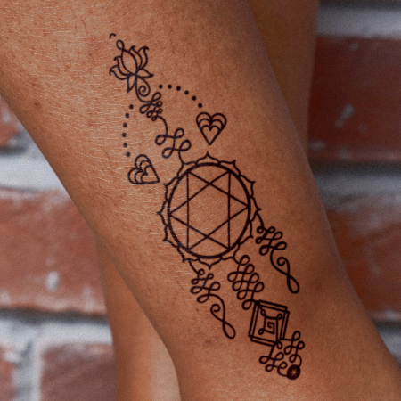 Chakra Totem 4 by Aleksandra Slowik is a Geometric temporary tattoo from inkbox - main