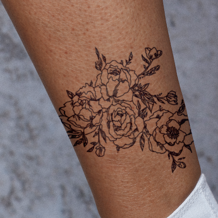 Fragile Botany by Britney Olivares is a Flowers temporary tattoo from inkbox - main