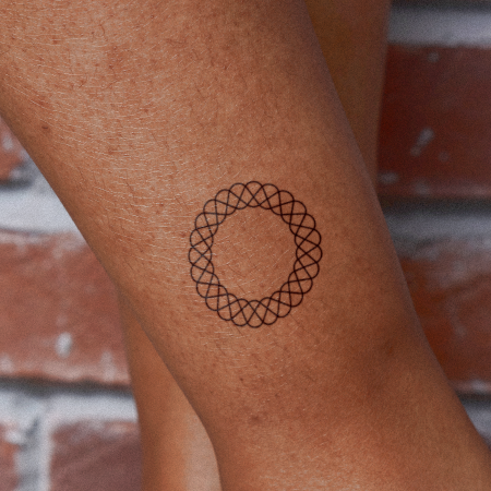 Spirograph 3 by Felipe Sena is a Geometric temporary tattoo from inkbox - compliment