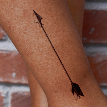 Straight Shooter by inkbox is a Arrows temporary tattoo from inkbox - main